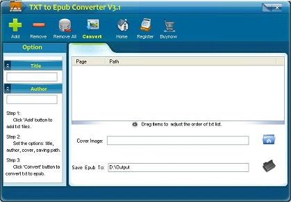 txt to epub converter